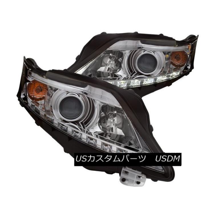 ヘッドライト Anzo 111323 Set of 2 Chrome Projector Headlights for 10-12 Lexus RX350 Anzo 111323 10-12 Lexus RX350用クロームプロジェクターヘッドライトセット