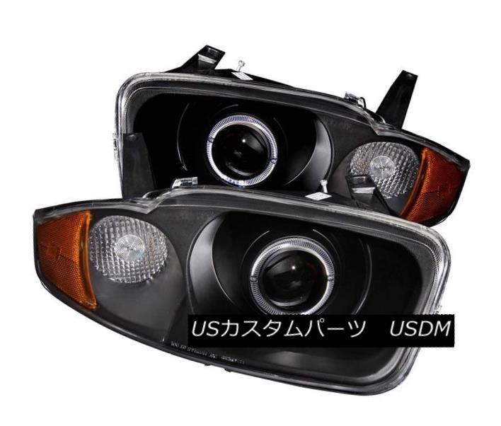 ヘッドライト ANZO 121437 Set of 2 Black Halo Projector Headlights for 03-05 Chevy Cavalier ANZO 121437 03-05 Chevy Cavalier用ブラックハロープロジェクターヘッドライト2個セット