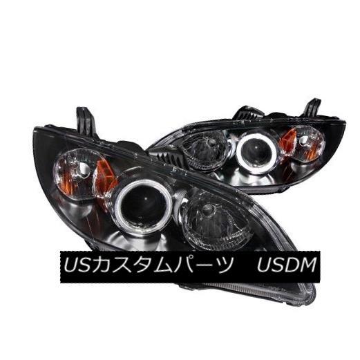 ヘッドライト ANZO 121228 Black Halogen Projector Headlights for 04-08 Mazda 3 (Set of 2) ANZO 121228 04-08マツダ3用ブラックハロゲンプロジェクターヘッドライト(2個セット)