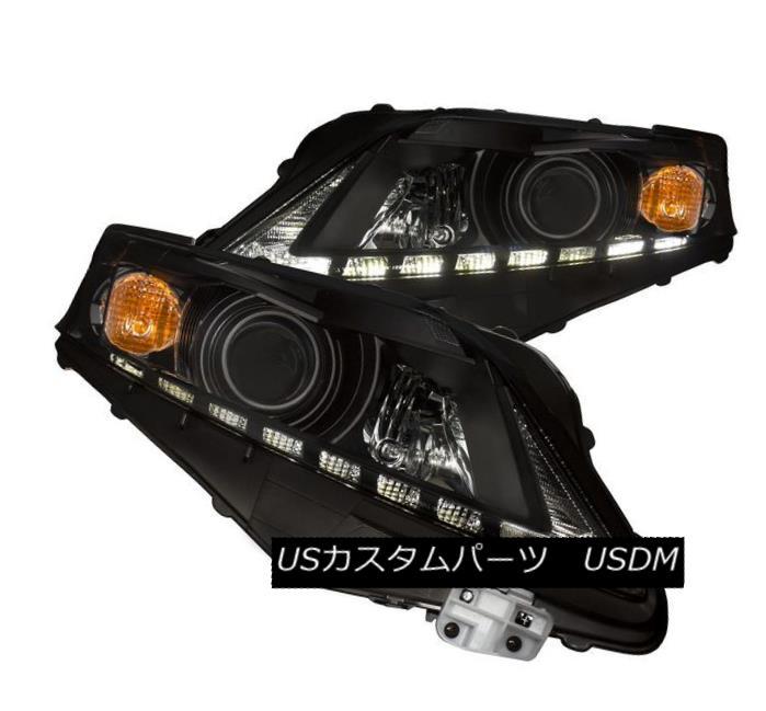 ヘッドライト Anzo 111322 Set of 2 Black Projector Headlights for 10-12 Lexus RX350 Anzo 111322 10-12 Lexus RX350用2台の黒プロジェクターヘッドライトセット
