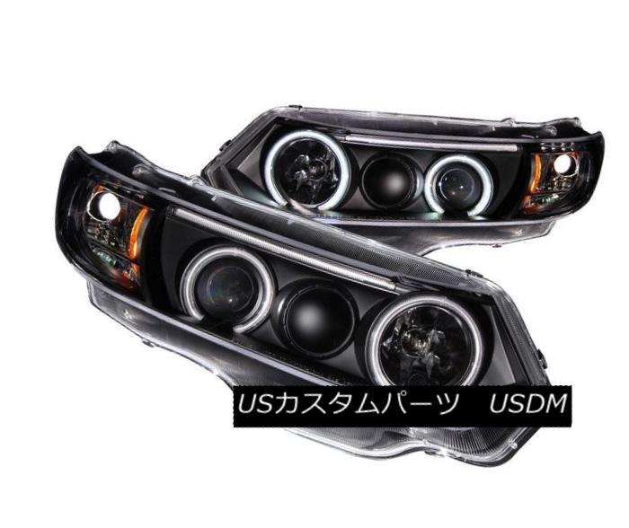 ヘッドライト ANZO 121062 Set of 2 Black CCFL Halo Projector Headlights for Honda Civic 2-Door ANZO 121062 Honda Civic 2-Door用ブラックCCFLハロープロジェクターヘッドライト2個セット