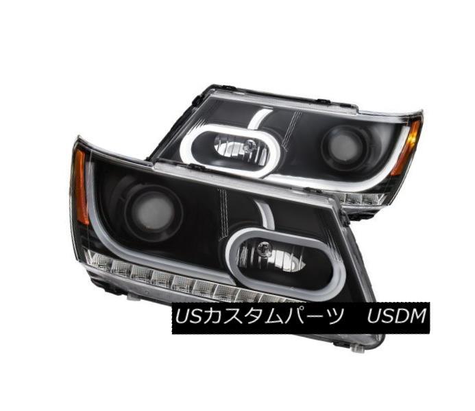 ヘッドライト Anzo 111334 Pair of Plank Style Black Projector Headlights for Dodge Journey Anzo 111334ドッジ・ジャーニー用の板状のブラック・プロジェクター・ヘッドライトのペア