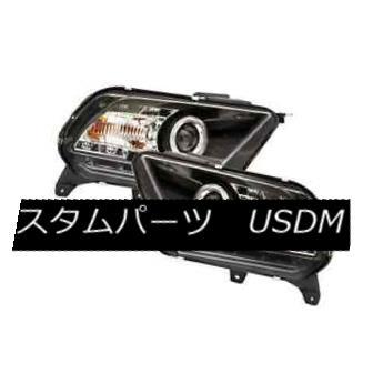 ヘッドライト IPCW CWS-523B2 Black Projector Headlights w/Rings for Ford Mustang IPCW CWS-523B2 Ford Mustang用リング付プロジェクターヘッドライト