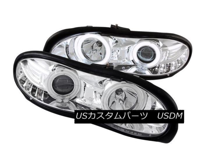 ヘッドライト ANZO 121159 Set of 2 Chrome CCFL Halo Projector Headlights for 98-02 Camaro ANZO 121159 98-02カマロ用クロームCCFLハロープロジェクターヘッドライトセット