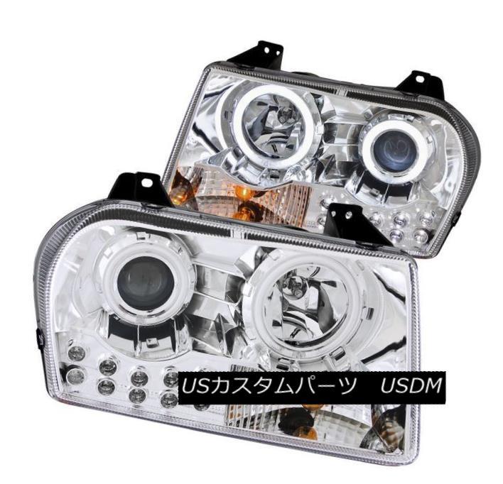 ヘッドライト ANZO 121136 Set of 2 CCFL Halo Projector Headlights for 05-10 Chrysler 300 ANZO 121136 05-10クライスラー300用2 CCFLハロープロジェクターヘッドライトセット