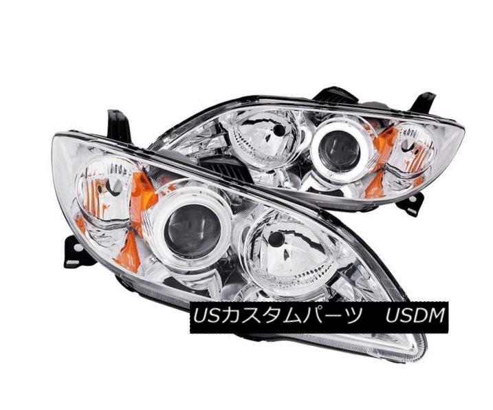 ヘッドライト ANZO 121211 Set of 2 Chrome CCFL Halo Projector Headlights for 04-08 Mazda 3 4DR ANZO 121211 04-08 Mazda 3 4DR用クロームCCFLハロープロジェクターヘッドライトセット