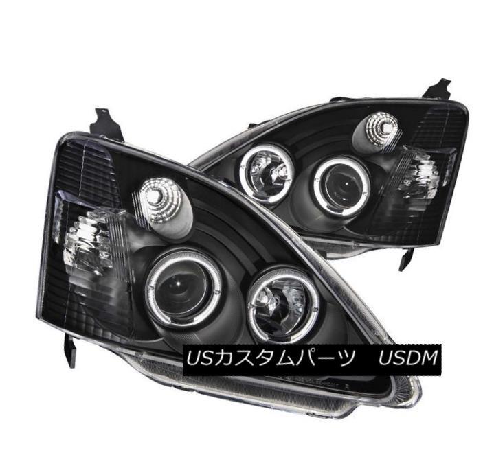 ヘッドライト ANZO 121057 Set of 2 Black Halo Projector Headlights for 02-03 Honda Civic 3DR ANZO 121057 02-03 Honda Civic 3DR用ブラックハロープロジェクターヘッドライト2個セット