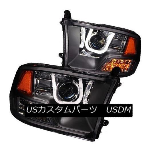 ヘッドライト ANZO 111270 Black Housing Halogen Projector Headlights for Dodge Rams Set of 2 ANZO 111270ドッジラム用ブラックハウジングハロゲンプロジェクターヘッドライト2個セット