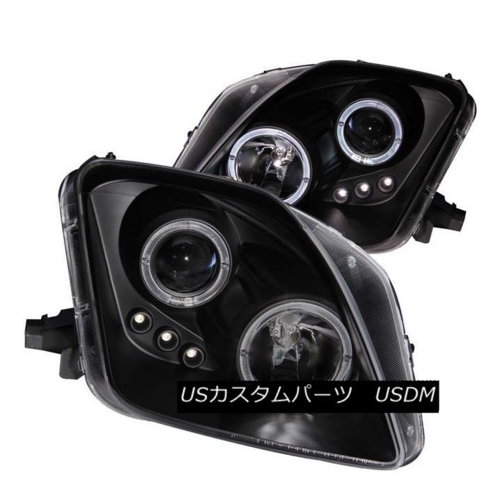 ヘッドライト ANZO 121341 Set of 2 Black CCFL Halo Projector Headlights for 97-01 Prelude ANZO 121341 97-01プレリュードのための2つの黒CCFL Haloプロジェクターヘッドライトのセット