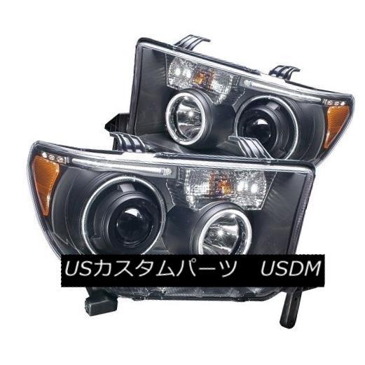 ヘッドライト ANZO 111174 Clear/Black Halogen Projector Headlights Housing for Toyota Set of 2 ANZO 111174トヨタ用クリア/ブラックハロゲンプロジェクターヘッドライトハウジング2個セット