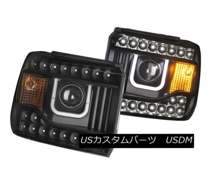 車用品 バイク用品 >> 開店記念セール パーツ ライト ランプ ヘッドライト Anzo 111316 Set of Sierra Style 2 Black U-Bar 売り出し GMC Projector for 1500 Headlights 1500用ブラックUバースタイルのプロジェクターヘッドライト2セット