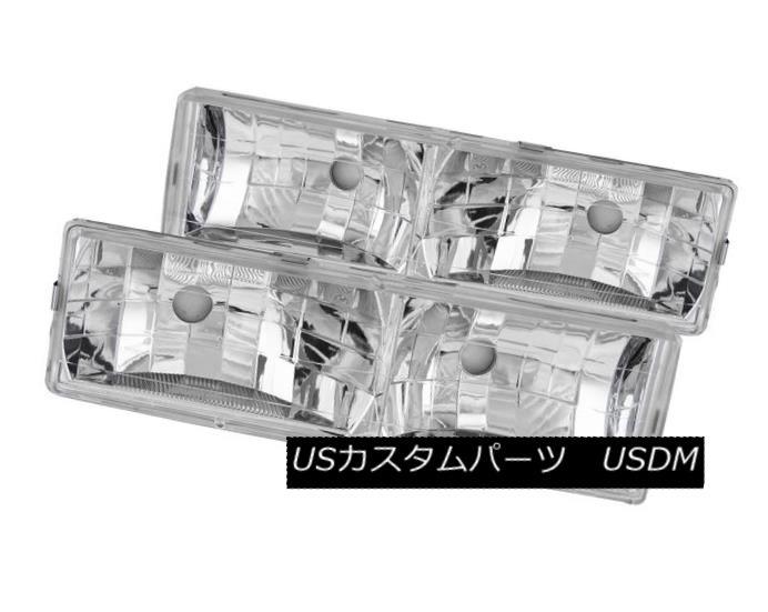 ヘッドライト ANZO 111136 Set of 2 Crystal Headlights for C/K 1500/2500/3500/Suburban/Tahoe ANZO 111136 C / K 1500/2500/3500用クリスタルヘッドライトセット /郊外/タホ e