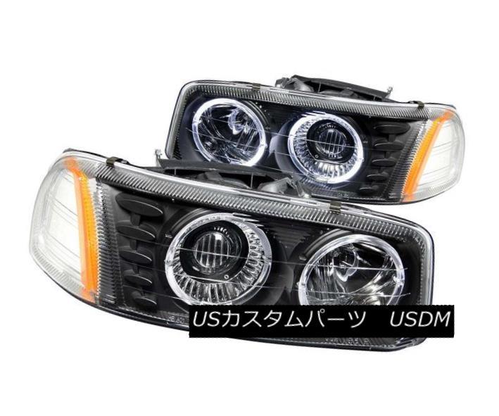 ヘッドライト ANZO 111192 Set of 2 Black Halo Projector Headlights for GMC Sierra/Yukon ANZO 111192 GMC Sierra / Yukon用ブラックハロープロジェクターヘッドライト2個セット