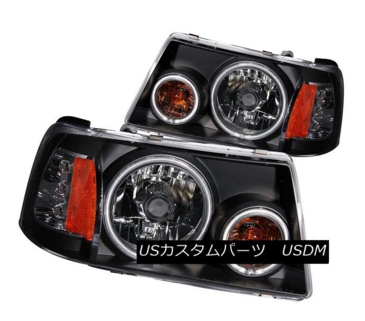 ヘッドライト ANZO 111152 Set of 2 Black CCFL Halo Projector Headlights for 01-11 Ford Ranger ANZO 111152 01-11 Ford Ranger用の黒色CCFLハロープロジェクターヘッドライト2個セット