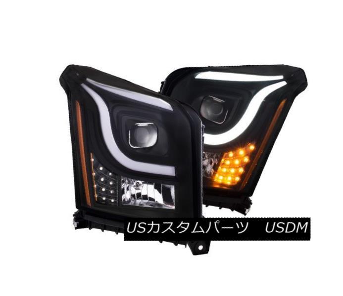 ヘッドライト Anzo 111342 Pair of Plank Style Black/Amber Projector Headlights for Yukon XL Anzo 111342 Yukon XL用プレートスタイルのブラック/アンバープロジェクターヘッドライトのペア