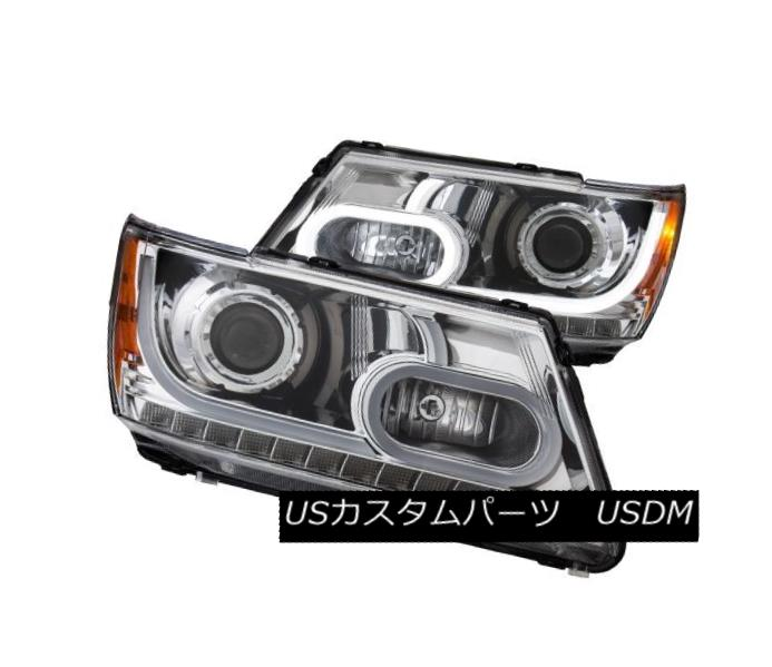ヘッドライト Anzo 111335 Pair of Plank Style Chrome Projector Headlights for Dodge Journey Anzo 111335ドッジ・ジャーニー用の板状のクロム・プロジェクター・ヘッドライトのペア