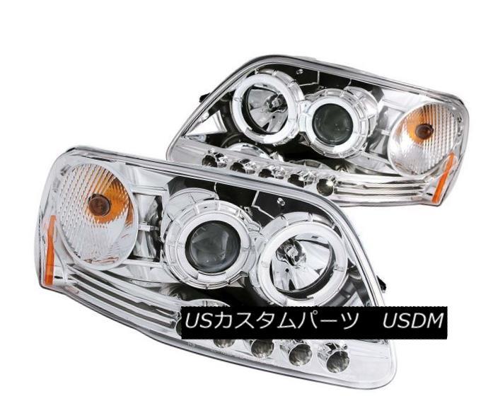 ヘッドライト ANZO 111032 Set of 2 Chrome Halo Projector Headlights for Ford F-150/Expedition ANZO 111032フォードF-150 / Expediti用クロームハロープロジェクターヘッドライトセット on