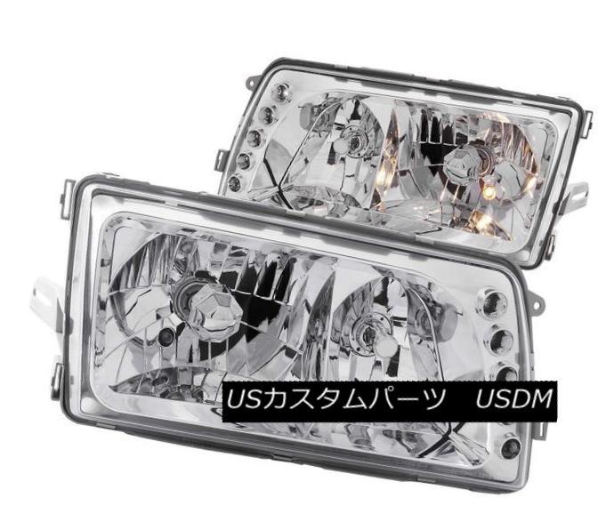 ヘッドライト ANZO 121157 Set of 2 Chrome Crystal Headlights for 81-91 Mercedes-Benz S-Class ANZO 121157 Mercedes-Benz S-Class用2色クロームクリスタルヘッドライトセット