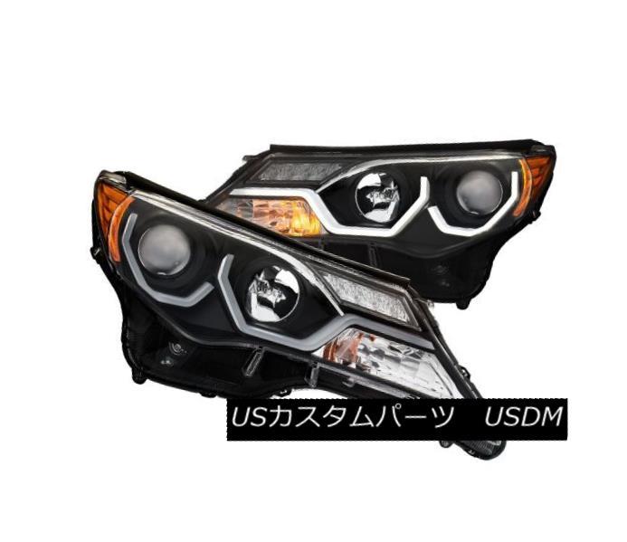 ヘッドライト Anzo 111332 Pair of Plank Style Black Clear Projector Headlights for Toyota Rav4 Anzo 111332トヨタRav4の板状ブラッククリアプロジェクターヘッドライトのペア