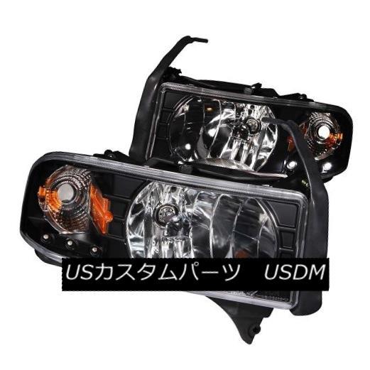 ヘッドライト ANZO 111205 Black Housing Headlights for Dodge Ram 1500 / 2500 / 3500 (Set of 2) ANZO 111205ダッジラム用ブラックハウジングヘッドライト1500/2500/3500(2個セット)