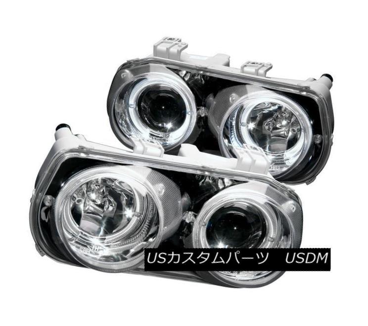 ヘッドライト Anzo 121004 Chrome Projector Headlight Pair w/ Halos for 94-97 Acura Integra Anzo 121004クロームプロジェクターヘッドライトペア、94-97 Acura Integra用ハロー