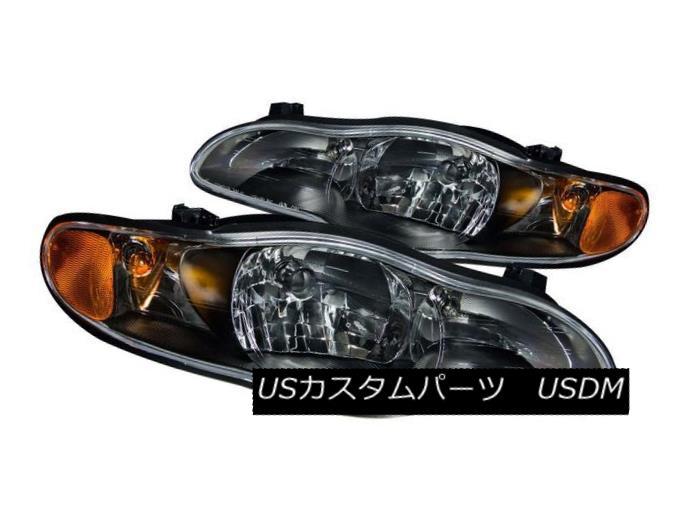 ヘッドライト ANZO 121165 Set of 2 Black Crystal Headlights for 00-05 Chevrolet Monte Carlo ANZO 121165シボレーモンテカルロのための2つの黒いクリスタルヘッドライトのセット00-05