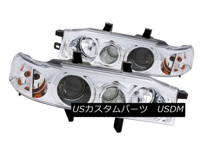 ヘッドライト ANZO 121049 Set of 2 Chrome Projector Headlights for 90-93 Honda Accord ANZO 121049 90-93ホンダアコード用クロームプロジェクターヘッドライトセット