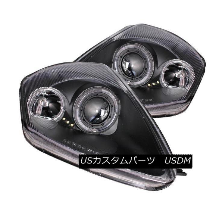 ヘッドライト ANZO 121332 Set of 2 Black Halo Projector Headlights for Mitsubishi Eclipse ANZO 121332三菱Eclipse用ブラックハロープロジェクターヘッドライト2個セット