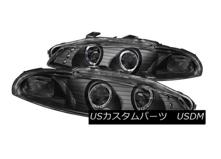 ヘッドライト ANZO 121365 Pair Black Halo Projector Headlights for 97-99 Mitsubishi Eclipse ANZO 121365 97-99 Mitsubishi Eclipse用ブラックハロープロジェクターヘッドライトペア