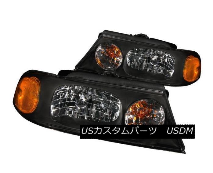 ヘッドライト ANZO 111046 Set of 2 Black Crystal Headlights for 1998-2002 Lincoln Navigator ANZO 111046 1998年?2002年の2つの黒いクリスタルヘッドライトのセットリンカーンナビゲーター
