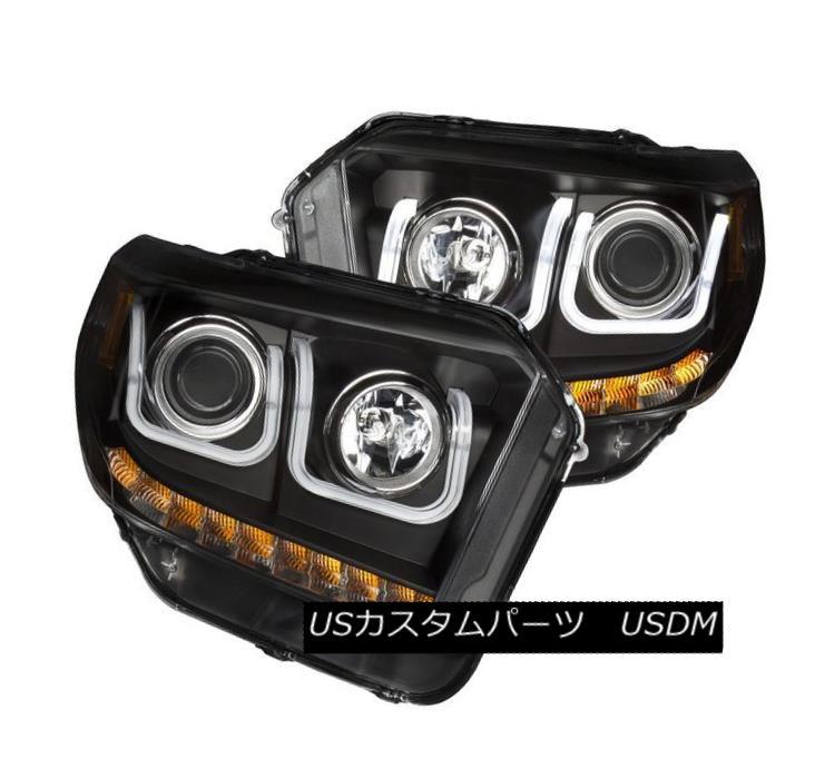 ヘッドライト Anzo 111318 Set of 2 Black U-Bar Style Projector Headlights for Toyota Tundra Anzo 111318 Toyota Tundra用ブラックUバースタイルのプロジェクターヘッドライト2セット