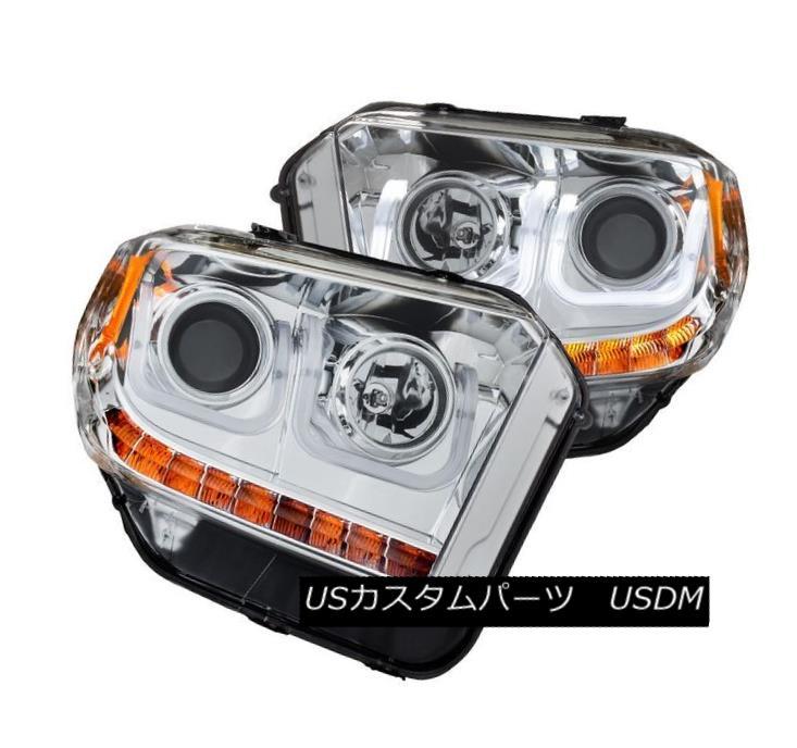 ヘッドライト Anzo 111327 Chrome U-Bar Projector Headlight Pair w/ DRLs for Toyota Tundra Anzo 111327トヨタトンドラのDRLを搭載したChrome U-Barプロジェクターヘッドライトペア