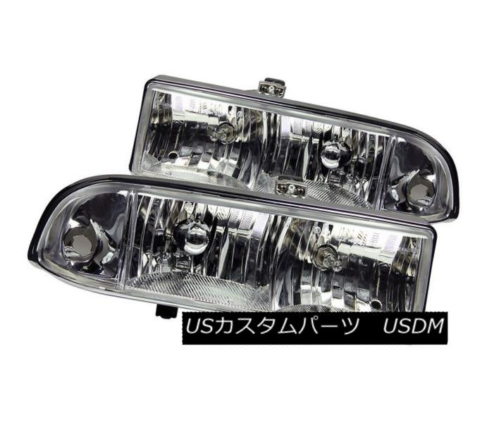 ヘッドライト ANZO 111014 Set of 2 Chrome Crystal Headlights for 98-04 Chevrolet S10/Blazer ANZO 111014 98-04シボレーS10 /ブレイザー用クロームクリスタルヘッドライト2個セット