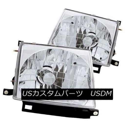ヘッドライト ANZO 121132 Chrome Housing Halogen Headlights for 97-00 Toyota Tacoma (Set of 2) ANZO 121132トヨタタコマ97-00用クロームハウジングハロゲンヘッドライト(2個セット)
