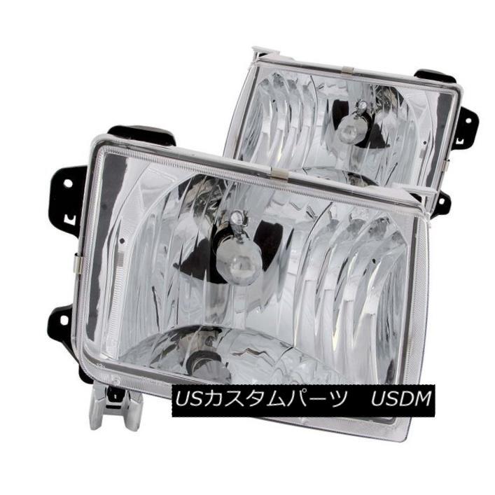 ヘッドライト ANZO 111049 Set of 2 Chrome Crystal Headlights for Nissan Frontier/Xterra ANZO 111049 Nissan Frontier / Xterr  a用クロームクリスタルヘッドライト2個セット