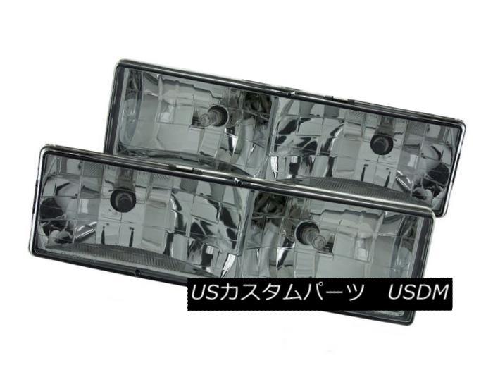 ヘッドライト ANZO 111061 Set of 2 Smoked Crystal Headlights for C/K 1500/2500/3500/Suburban ANZO 111061 C / K 1500/2500/3500用スモーククリスタルヘッドライト2個セット /郊外