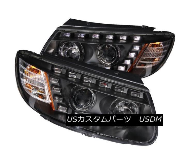 ヘッドライト ANZO 111237 Set of 2 Black Projector Headlights for 07-09 Hyundai Santa Fe ANZO 111237 07-09 Hyundai Santa Feの2台の黒プロジェクターヘッドライトセット