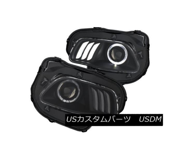 ヘッドライト Anzo 111353 Pair of Black Projector Headlights w/White Plus LED for Cherokee Anzo 111353ブラックプロジェクターヘッドライト(ホワイトプラスLEDチェロキー用)