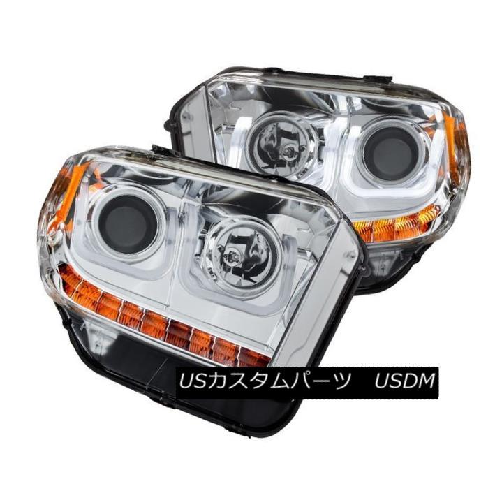 ヘッドライト Anzo 111319 Set of 2 Chrome U-Bar Style Projector Headlights for Toyota Tundra Anzo 111319 Toyota Tundra用クロムU-Barスタイルプロジェクターヘッドライト2個セット