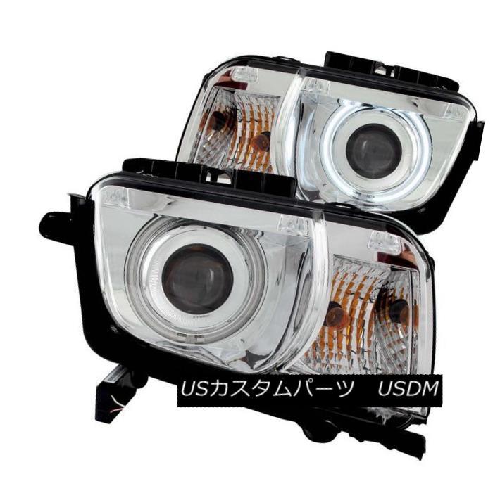 ヘッドライト ANZO 121311 Set of 2 Chrome CCFL Halo Projector Headlights for Chevy Camaro ANZO 121311シボレーカマロ用クロームCCFLハロープロジェクターヘッドライトのセット
