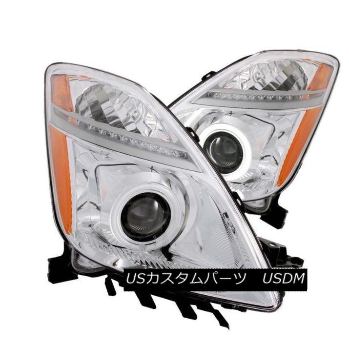 ヘッドライト ANZO 121295 Set of 2 Chrome CCFL Halo Projector Headlights for 04-09 Prius ANZO 121295 04-09 Prius用クロームCCFLハロープロジェクターヘッドライト2個セット