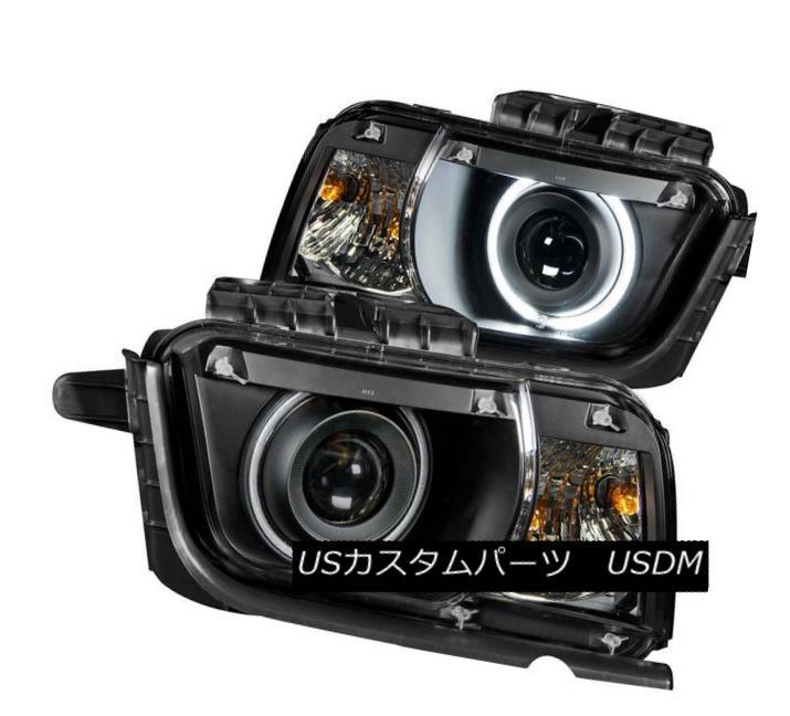 ヘッドライト ANZO 121312 Set of 2 Black CCFL Halo Projector Headlights for Chevy Camaro ANZO 121312シボレーカマロの2つのCCFLハロープロジェクターヘッドライトセット