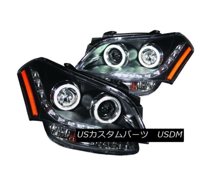 ヘッドライト ANZO 121469 Set of 2 Black CCFL Halo Projector Headlights for 10-11 Kia Soul ANZO 121469 10-11キアソウル用の黒色CCFLハロープロジェクターヘッドライト2個セット