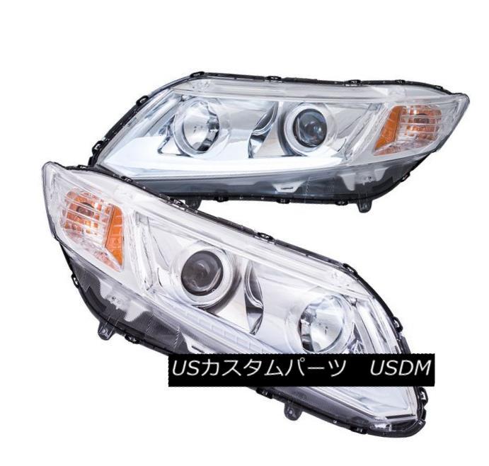 ヘッドライト Anzo 121480 Chrome Plank Style Projector Headlight Pair for Honda Civic ホンダシビックのためのアンゾ121480クロム板型のプロジェクターヘッドライトペア