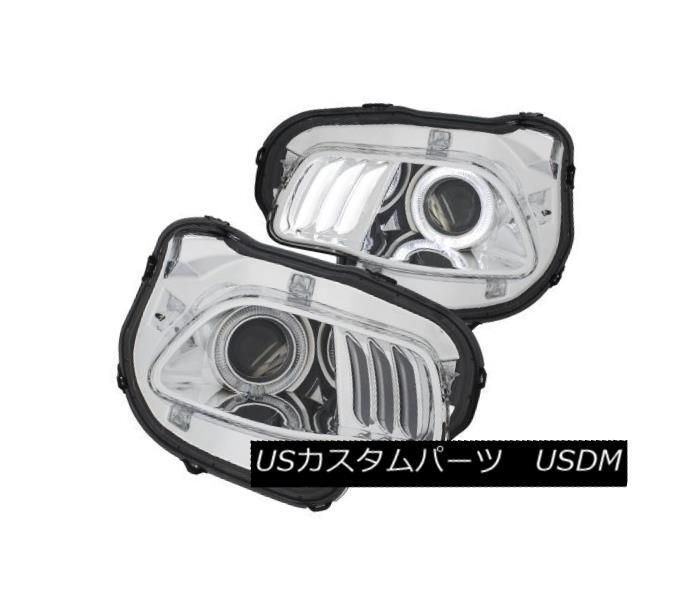 ヘッドライト Anzo 111354 Pair of Chrome w/White Plus Red Projector Headlights for Cherokee Anzo 111354チェロキー用ホワイトプラス赤プロジェクターヘッドライト付きクロームペア