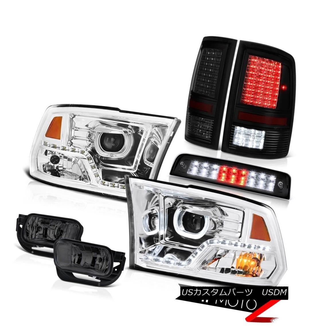 ヘッドライト 09 10 11 12 13 Dodge RAM 1500 Brake Light Chrome Head Lamp Led Tail Fog Lights 09 10 11 12 13ダッジRAM 1500ブレーキライトクロームヘッドランプLedテールフォグライト