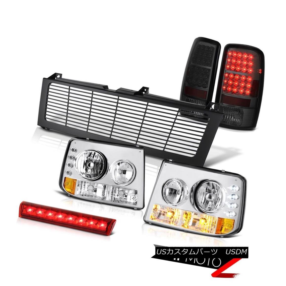 ヘッドライト Headlamps Tail Light High Brake Cargo LED Black Grille 00 01 02 03 04 Suburban ヘッドランプテールライトハイブレーキカーゴLEDブラックグリル00 01 02 03 04郊外
