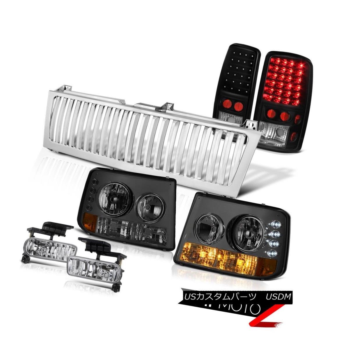 ヘッドライト 00 01 02 03 04 05 06 Suburban LT Headlights Black Brake Lights Bumper Fog Grille 00 01 02 03 04 05 06郊外のLTヘッドライトブラックブレーキライトバンパーフォググリル
