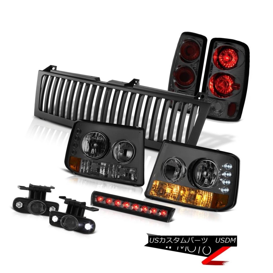 ヘッドライト Smoke Headlights Rear Tail Lights Tint Fog Third Brake LED Black 00-06 Tahoe Z71 スモークヘッドライトリアテールライトティントフォグ第3ブレーキLEDブラック00-06タホZ71