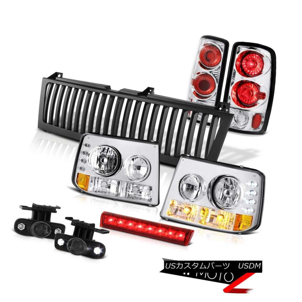 ヘッドライト Crystal Headlights Altezza Tail Lights Fog 3rd Red LED Black 00-06 Tahoe 5.3L クリスタルヘッドライトAltezzaテールライトフォグ3rdレッドLEDブラック00-06タホー5.3L